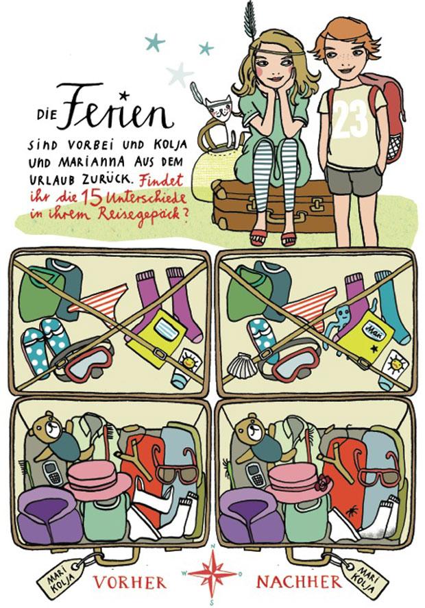 Kinderrätsel von Silke Schmidt Sommer Ferien Urlaub ist vorbei