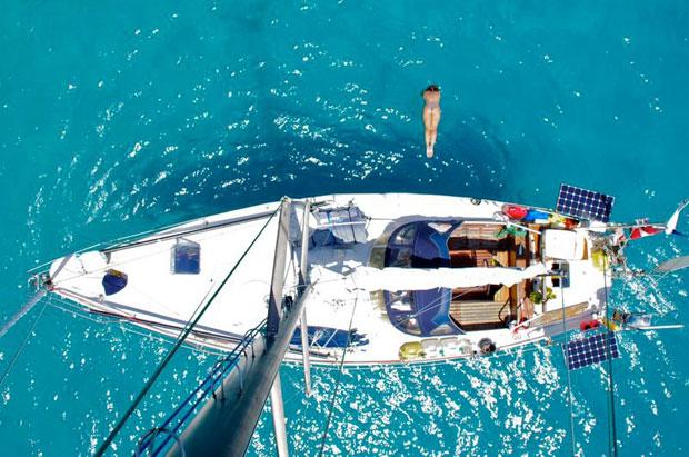 Boot-Kopfsprung