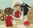 Kinderbuch Bilderbuch vom Größerwerden Mamas Kleid von Manuela Olten im Aladin Verlag Cover
