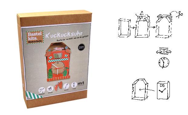 diy ideen zum selbermachen mit kindern kuckucksuhr bastelkit. Black Bedroom Furniture Sets. Home Design Ideas