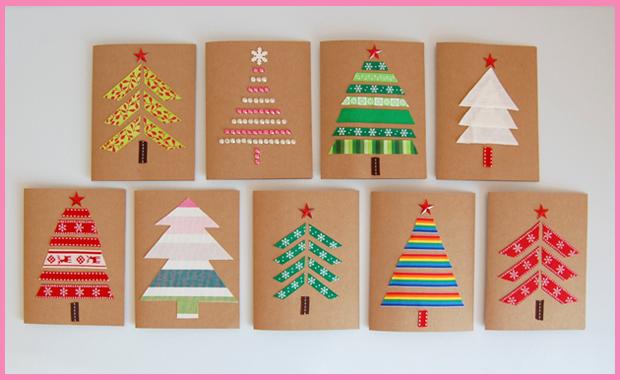 Selber machen weihnachtskarten basteln himbeer magazin for Weihnachtskarten mit kindern basteln