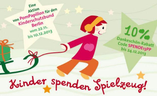 Veranstaltungen für Familien: Kinder spenden Spielzeug