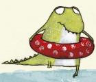 Kinderbuch-wasserscheues-Krokodil