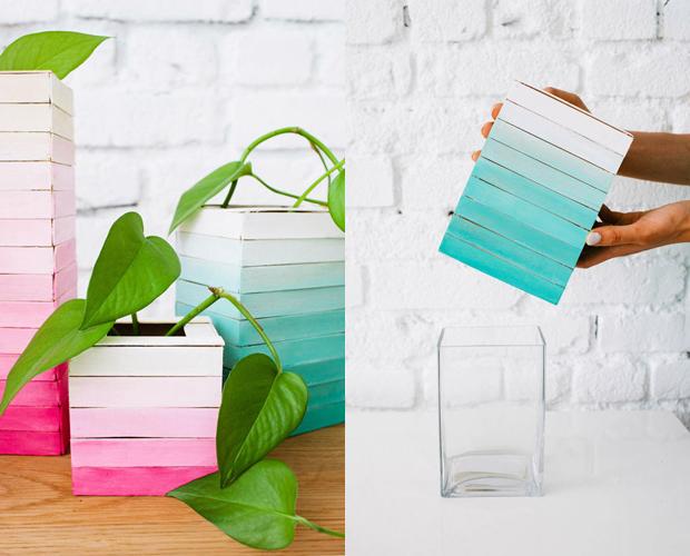 selber machen: vase aus eisstielen,