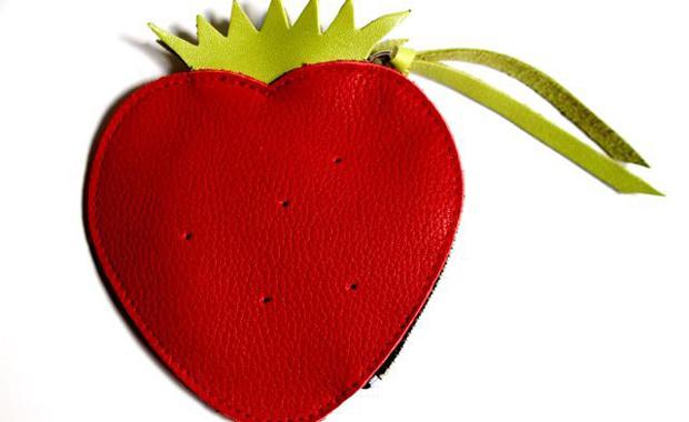 Papoutsi-Erdbeer-Geldbeutel