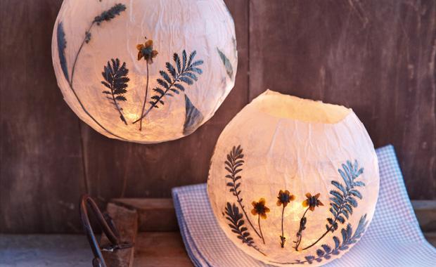 basteln mit kindern kr uter lampions himbeer magazin. Black Bedroom Furniture Sets. Home Design Ideas