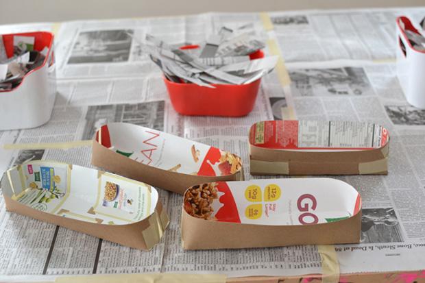 kugel basteln paper mache crafts. Black Bedroom Furniture Sets. Home Design Ideas