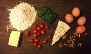 Rezept-Zutaten-Spinat-Gorgonzola-Walnuss-Quiche©Anja-Ihlenfeld