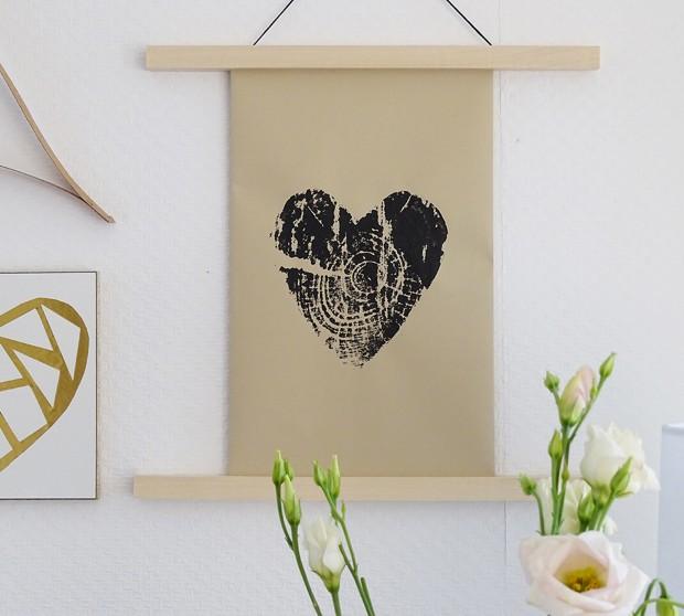 Baumdruck-Herz