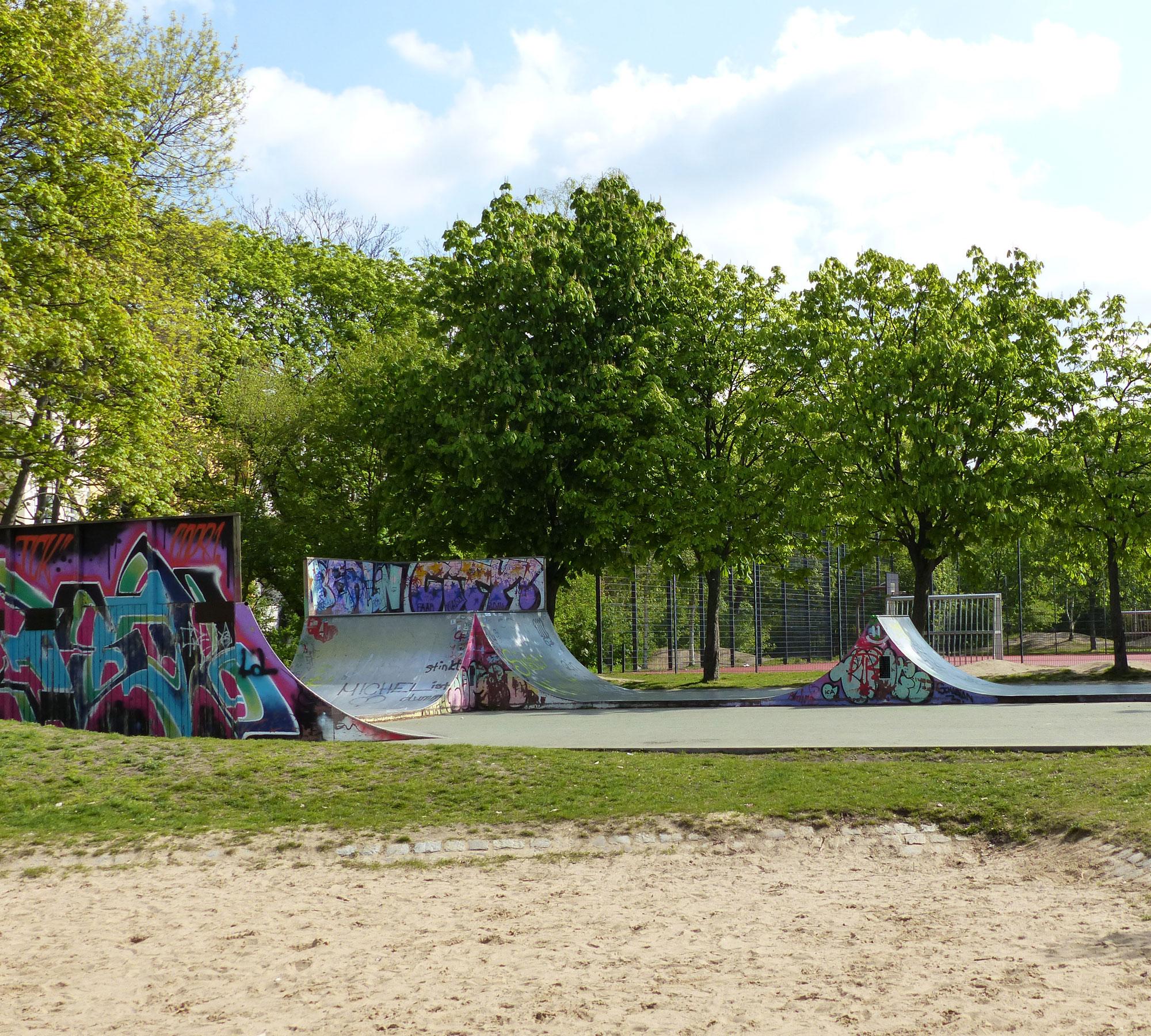 Skatestrecke im Volkspark Friedrichshain | HIMBEER Magzin