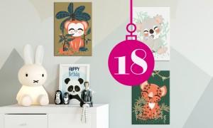Adventskalender: Leinwand-Set von Posterlounge | HIMBEER