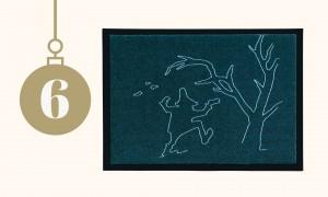 Adventskalender: Design-Fußmatte von grimmliis | HIMBEER