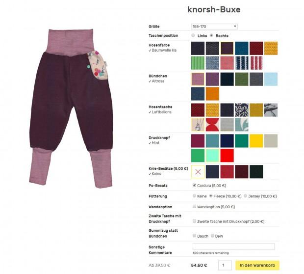 Adventskalender: Hose von kleiner knorsh | HIMBEER