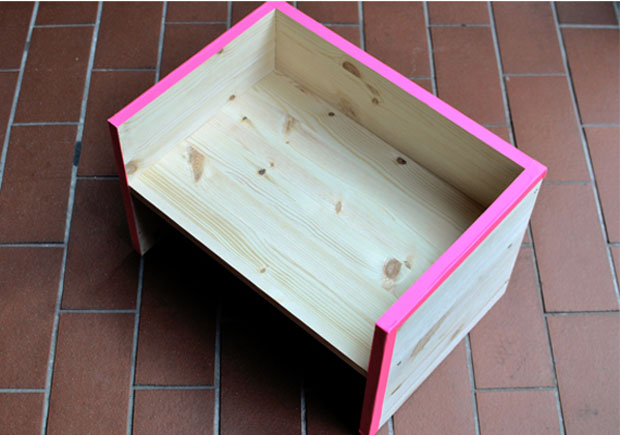 selbermachen statt kaufen der berliner hocker himbeer. Black Bedroom Furniture Sets. Home Design Ideas