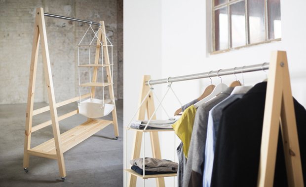 kleiderstange aus holz selber bauen hi26 hitoiro. Black Bedroom Furniture Sets. Home Design Ideas