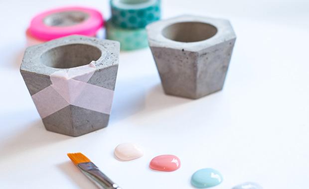 Kerzenhalter aus beton selber machen