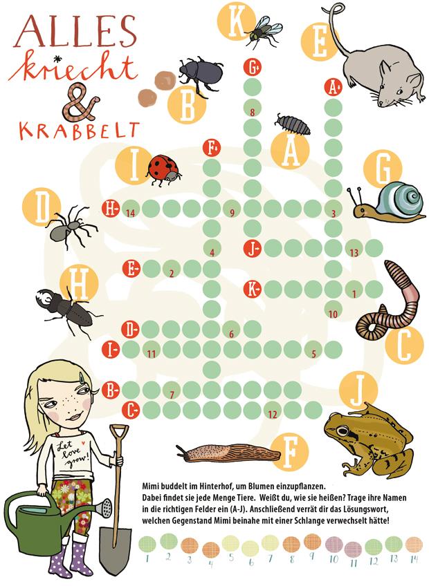 kinderrätsel im himbeer familienmagazin krabbeltiere im