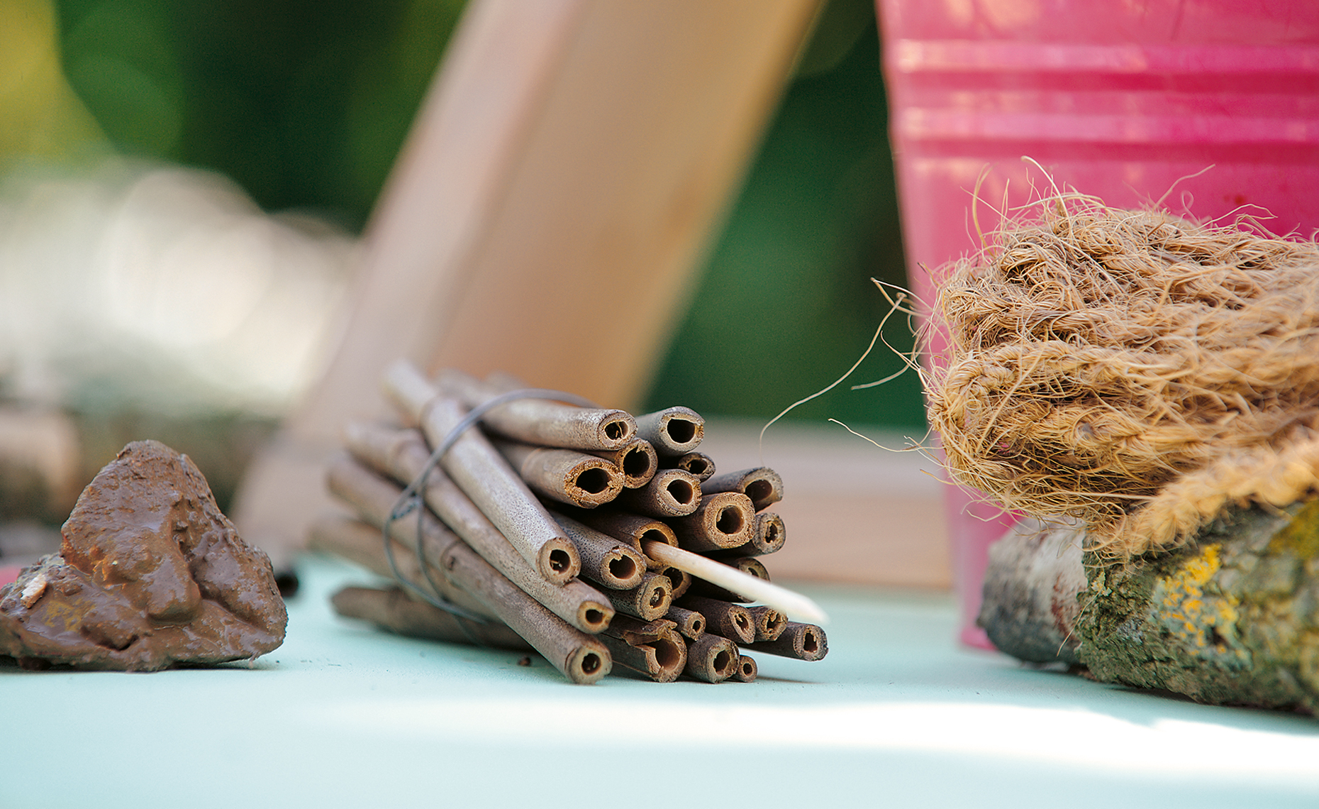 diy ideen insektenhotel himbeer familienmagazin. Black Bedroom Furniture Sets. Home Design Ideas